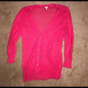 Pink J Crew sweater size Large